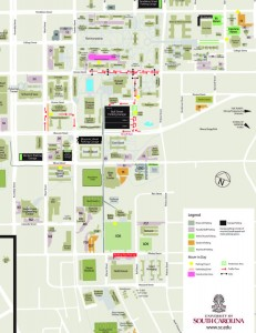 map of move-in day traffic pattern